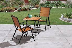 appealing enduro wood patio sets with french bistro metal folding