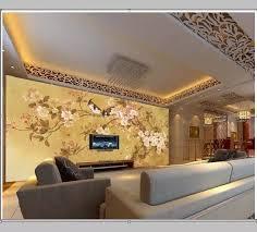 große lg geprägte 3d wandbild tapete tv wand tv wohnzimmer hintergrund tapeten pfirsich vögel wohnkultur