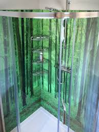 Shower In The Woods Photographic Printed Glass Splashbacks