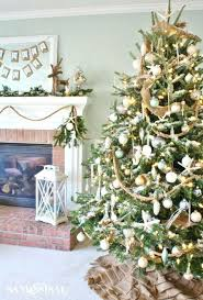 Xmas Tree Ideas Sand Sisal Elegant Decorations Beach Themed Trees Christmas 2014 Uk