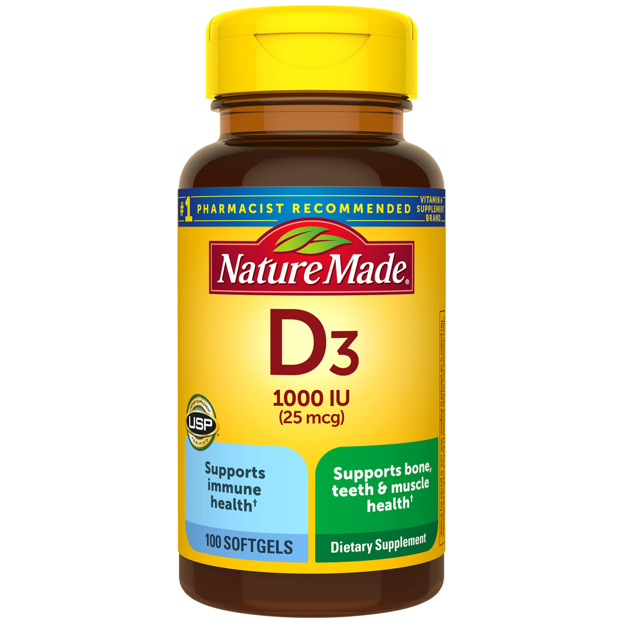Nature Made: D3 Vitamin D Supplement - 100 Liquid Softgels