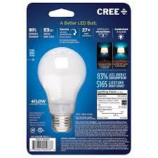 cree ba19 08050omb 12de26 3 1 60w equivalent 5000k a19 led light