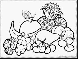 Marvelous Fruit Basket Coloring Pages Printable With And For Preschoolers