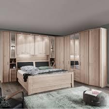 wiemann luxor 3 4 bettbrücke mit komfortbett und drehtürenschränken in steineiche nachbildung liegefläche ca 180 x 200 cm
