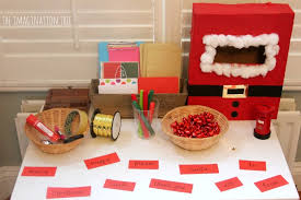Christmas literacy activity post office writing table