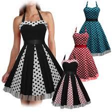 PolkaDot 50s Swing Dress UK8 24 Plussize