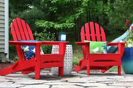 Red Adirondack Chairs Polywood by Polywood In Your Backyard U2013 Poly World Blog