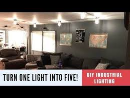 DIY Industrial Light Fixture Adding More To A Dark Room