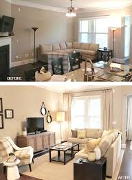 In The Case Above First Photo Furniture Hug Walls But By Bringing Sectional Away From Wall You Create Illusion Of More Space