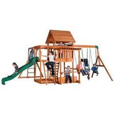 Searsca Patio Swing by Big Backyard Ridgeview Deluxe Clubhouse Wooden Swing Set
