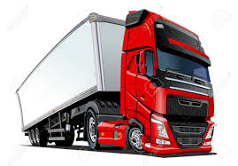 100 Semi Truck Toy Cartoon Cargo Semi Truck Available EPS10 Vector Format Separated