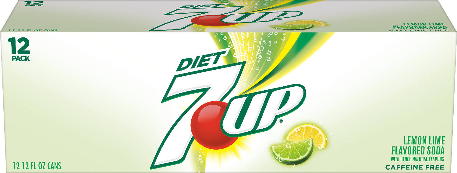 7UP Soda - Diet, Lemon Lime, 12oz