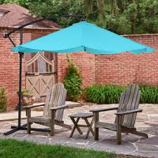 Offset Rectangular Patio Umbrellas by Outsunny 10 U0027 Deluxe Offset Tilt 360 Degree Rotating Cantilever