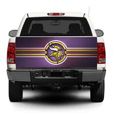 100 Truck Suv Product Minnesota Vikings NFL Tailgate Decal Sticker Wrap Pickup