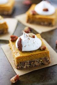 Pumpkin Pie Without Crust Healthy by Skinny Pecan Pumpkin Pie Bars It U0027s Cheat Day Everyday