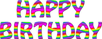 happy birthday rainbow clipart