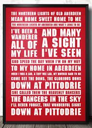 Aberdeen Football Lyrics Song Poster