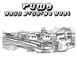 Puma Bass Fishing Boat Coloring Pages