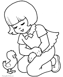 Kid Coloring Book Pages For Easter