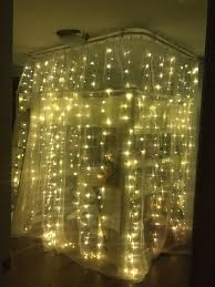 Pottery Barn Baby Ceiling Lights by Cozy Magical Teen Bedroom Fairy Lights Around A Loft Bed