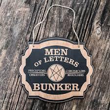 Men of Letters Bunker Black Door Sign