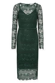 jurken huren body frock lisa lace dress midi dress green