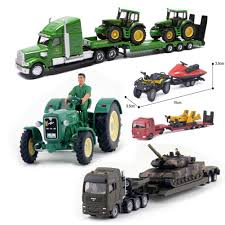 100 John Deere Toy Trucks LeadingStar Simulate Alloy Vehicle Model Trailer Platform Truck