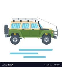 100 Off Road Roof Racks For Trucks Road Vehicle With Mud Tire And Roof Rack Vector Image