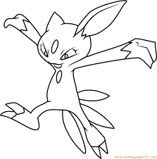 Sneasel Pokemon Coloring Page