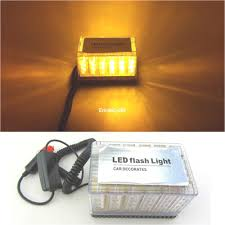 100 Truck Emergency Lights Safety Light Bars Amber 48 Led Car Roof Top Hazard