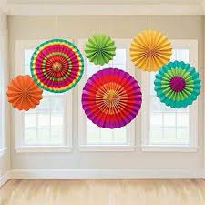 Colorful Tissue Paper Fans Party Wedding Birthday Hanging Fiesta Fan Decorations Art Craft 2016