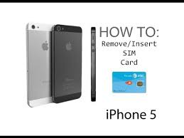 iPhone 5 5S How To Insert Remove a SIM Card