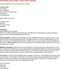 Pacu Nurse Resume Cover Letter Sample