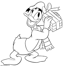 Best Donald Duck Disney Christmas Coloring Pages