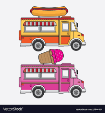 100 Hot Dog Food Truck Truck Ice Cream And Hot Dog Royalty Free Vector Image