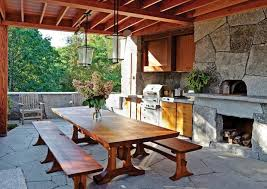 Rustic Outdoor Kitchen Designs Contemporary Patio