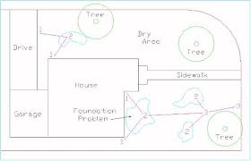 how to diagram a yard or lawn drainage installation plan