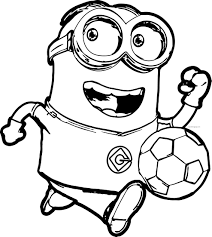Minion Soccer Player Coloring Pages Best Of