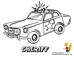 Free Police Car Coloring Pages Printable
