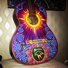 Custom Painted Guitar On Behance