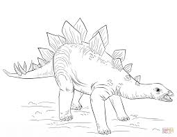 Stegosaurus Coloring Pages Young Page Free Printable Online