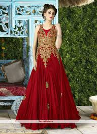 beautiful net embroidered work designer gown designer gowns