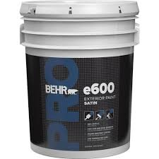 BEHR PRO 5 Gal E600 White Satin Enamel Exterior PaintPR64005 The