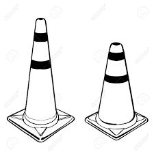 traffic cone Stock Vector