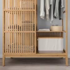 ikea nordkisa open wardrobe with sliding door bamboo