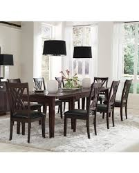 Montreal Collection MONESRT8SC 9 Piece Dining Room Set With Rectangular Table And 8x Side Chairs