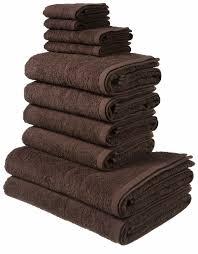 my home handtuch set inga mit feiner bordüre