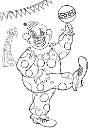 Free Online Clowning Around Colouring Page