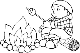 Camping Coloring Pages For Kids 390
