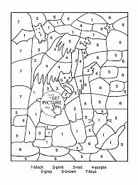 Color By Number Halloween Coloring Page For Kids Education Pages Printables Advanced Large Size